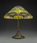 Glass, Tiffany Studios Leaded Glass and Patinated Bronze Dragonfly Table Lamp, circa 1910. Marks to shade: TIFFANY ST... (Total: 2 Items)