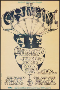 "Cream at The Fillmore & Winterland Ballroom (Bill Graham, 1968). Very Fine. First Printing Concert Poster (14""..."