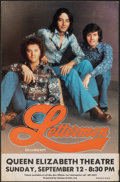 """Movie Posters:Rock and Roll, The Lettermen (1970s). Very Fine-. Stock Concert Window Card (14"""" X 22""""). Rock and Roll.. ..."""