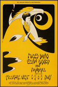 "Movie Posters:Rock and Roll, Miles Davis & Elvin Bishop at the Fillmore West (Bill Graham, 1971). Very Fine. Concert Window Card (14"" X 22""). 1st Printin..."