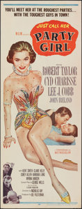 """Movie Posters:Film Noir, Party Girl (MGM, 1958). Rolled, Fine/Very Fine. Insert (14"""" X 36""""). Film Noir.. ..."""