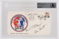 Explorers:Space Exploration, Skylab II (SL-3): Crew-Signed Launch Cover, Beckett Authenticated and Encapsulated. ...