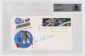 Explorers:Space Exploration, Gemini 4: Project Gemini Spacewalk Stamps First Day Cover Signed by James McDivitt, Beckett Authenticated and Enca...