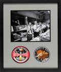Explorers:Space Exploration, Apollo 13: NASA Mission Control Photo Signed by Gene Kranz, Chris Kraft, Gerry Griffin, and Glynn Lunney, Matted and Framed w...