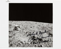 Apollo 12 Crew-Signed Original NASA Lunar Surface Photo