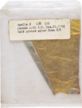 Explorers:Space Exploration, Apollo 8: Large Section of Flown Kapton Foil in Original Packaging, from a Period NASA Employee. ...