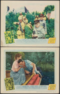 """Movie Posters:Adventure, The African Queen (United Artists, 1952). Fine/Very Fine. Lobby Cards (2) (11"""" X 14""""). Adventure.. ... (Total: 2 Items)"""