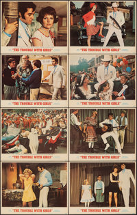 """The Trouble with Girls (MGM, 1969). Very Fine-. Lobby Card Set of 8 (11"""" X 14""""). Elvis Presley. ... (Total: 8..."""