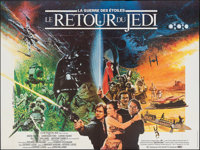 "Return of the Jedi (20th Century Fox, 1983). Folded, Fine/Very Fine. French Horizontal Double Grande (78.5"" X 59&qu..."