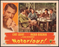 """Movie Posters:Hitchcock, Notorious (RKO, 1946). Very Fine+. Lobby Card (11"""" X 14""""). Hitchcock.. ..."""