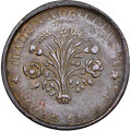 """Canada, Canada: Lower Canada. City Bank """"Bouquet"""" 1/2 Penny Token ND (1837) XF Details (Reverse Damage, Corrosion) NGC,..."""