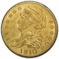 1810 $5 Large Date, Large 5, MS63 PCGS. PCGS Population: (48/40 and 3/1+). NGC Census: (29/29 and 2/1+). CDN: $19,500 Wh...