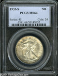 Walking Liberty Half Dollars: , 1933-S MS64 PCGS. The current Coin Dealer Newsletter (...