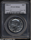 Kennedy Half Dollars: , 1981-P MS66 PCGS. ...