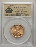 Canada: George V gold 5 Dollars 1912 MS63+ PCGS