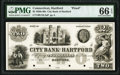 Obsoletes By State:Connecticut, Hartford, CT- City Bank of Hartford $2 18__ UNL Proof PMG Gem Uncirculated 66 EPQ.. ...