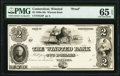Obsoletes By State:Connecticut, Winsted, CT- Winsted Bank $2 18__ as G8 Proof PMG Gem Uncirculated 65 EPQ.. ...