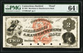Obsoletes By State:Connecticut, Hartford, CT- Merchants & Manufacturers Bank $2 Feb. 1, 1861 as G4a Proof PMG Choice Uncirculated 64 EPQ.. ...