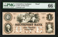 Obsoletes By State:Connecticut, Southport, CT- Southport Bank $1 18__ as G2a Proof PMG Gem Uncirculated 66 EPQ.. ...