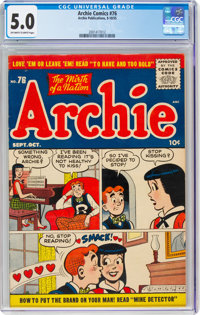 Archie Comics #76 (Archie, 1955) CGC VG/FN 5.0 Off-white to white pages