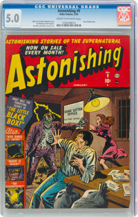 Astonishing #9 (Atlas, 1952) CGC VG/FN 5.0 Cream to off-white pages