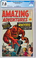 Amazing Adventures #5 (Marvel, 1961) CGC FN/VF 7.0 Off-white to white pages
