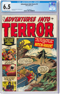 Adventures Into Terror #5 (Atlas, 1951) CGC FN+ 6.5 Off-white to white pages