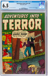 Adventures Into Terror #6 (Atlas, 1951) CGC FN+ 6.5 Light tan to off-white pages