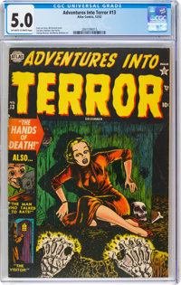 Adventures Into Terror #13 (Atlas, 1952) CGC VG/FN 5.0 Off-white to white pages