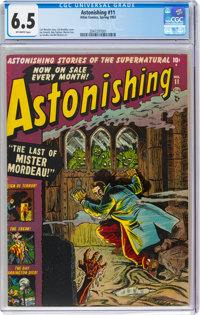 Astonishing #11 (Atlas, 1952) CGC FN+ 6.5 Off-white pages