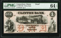 Obsoletes By State:Connecticut, Clinton, CT- Clinton Bank $1 18__ G2a Proof PMG Choice Uncirculated 64 EPQ.. ...