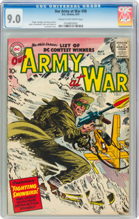 Our Army at War #58 (DC, 1957) CGC VF/NM 9.0 Cream to off-white pages