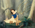 Animation Art:Production Cel, Snow White and the Seven Dwarfs Snow White Production Cel with Master Production Background (Walt Disney, 1937)....