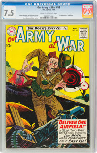 Our Army at War #93 (DC, 1960) CGC VF- 7.5 Cream to off-white pages