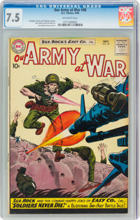 Our Army at War #98 (DC, 1960) CGC VF- 7.5 Off-white pages