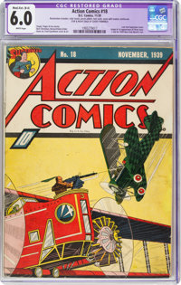 Action Comics #18 (DC, 1939) CGC Apparent FN 6.0 Moderate/Extensive (B-4) White pages