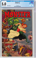 Golden Age (1938-1955):Horror, Monster #1 (Fiction House, 1953) CGC VG/FN 5.0 Off-white to white pages....