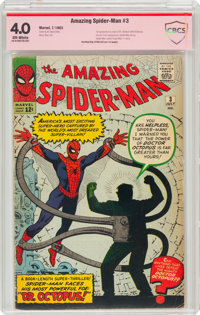 The Amazing Spider-Man #3 Verified Signature: Stan Lee (Marvel, 1963) CBCS VG 4.0 Off-white pages