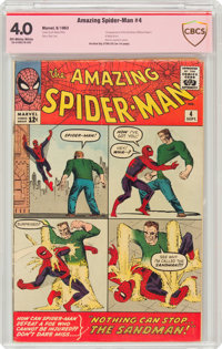 The Amazing Spider-Man #4 Verified Signature: Stan Lee (Marvel, 1963) CBCS VG 4.0 Off-white to white pages