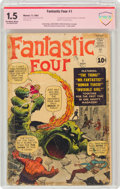 Fantastic Four #1 Verified Signature: Jack Kirby and Stan Lee (Marvel, 1961) CBCS FR/GD 1.5 Off-white to white pages