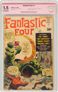 Fantastic Four #1 Signature Series: Jack Kirby and Stan Lee (Marvel, 1961) CBCS FR/GD 1.5 Off-white to white pages