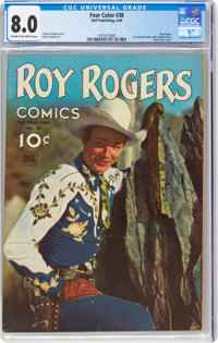 Four Color #38 Roy Rogers Comics (Dell, 1944) CGC VF 8.0 Cream to off-white pages