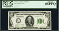 Fr. 2151-G $100 1928A Dark Green Seal Federal Reserve Note. PCGS Gem New 65PPQ
