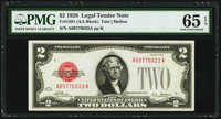 Fr. 1501 $2 1928 Legal Tender Note. PMG Gem Uncirculated 65 EPQ