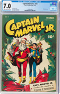 Golden Age (1938-1955):Superhero, Captain Marvel Jr. #14 (Fawcett Publications, 1943) CGC FN/VF 7.0 Cream to off-white pages....