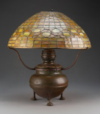 Tiffany Studios Leaded Glass and Bronze Acorn Table Lamp, circa 1920 Marks to base: TIFFANY STUDIOS, NEW YORK... (Total:...