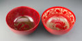 Ceramics & Porcelain, Pair of Bernard Moore Glazed Stoneware Bowls, circa 1905. Marks to tallest: BERNARD MOORE, MADE IN ENG:, (makers mark). ... (Total: 2 Items)