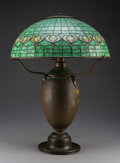 Lighting, Tiffany Studios Leaded Glass and Bronze Pomegranate Table Lamp, circa 1910. Marks to shade: TIFFANY STUDIOS, N... (Total: 2 Items)