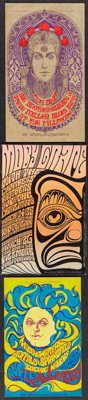 Big Brother and the Holding Company & Others Lot (Bill Graham, 1967). Very Fine+. Concert Promotional Postcards (3)...