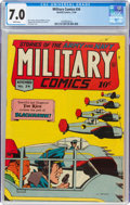 Golden Age (1938-1955):War, Military Comics #34 (Quality, 1944) CGC FN/VF 7.0 White pages....
